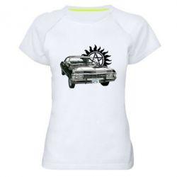 Женская спортивная футболка Машина Винчестеров