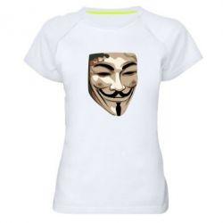 Женская спортивная футболка Маска Вендетта - FatLine