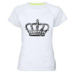 Женская спортивная футболка Массивная корона