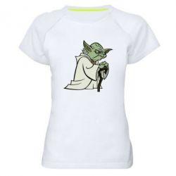 Женская спортивная футболка Master Yoda - FatLine