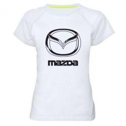 Женская спортивная футболка Mazda Logo