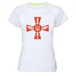 Женская спортивная футболка Меч, крила та герб - FatLine