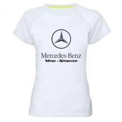 Женская спортивная футболка Mercedes Benz - FatLine