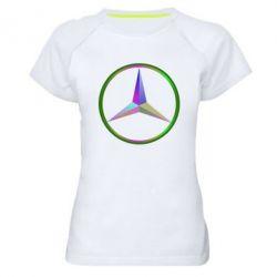 Женская спортивная футболка Mercedes Logo Art - FatLine