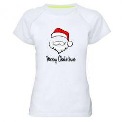 Женская спортивная футболка Merry Christmas - FatLine