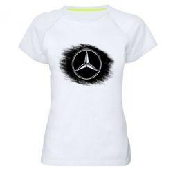 Женская спортивная футболка Мерседес арт, Mercedes art