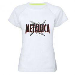 Женская спортивная футболка Metallica Logo - FatLine