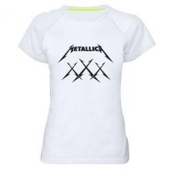 Женская спортивная футболка Metallica XXX - FatLine