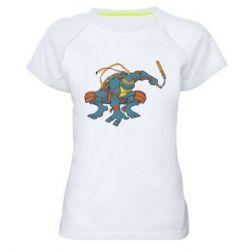 Женская спортивная футболка Микеланджело - FatLine