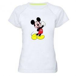Женская спортивная футболка Микки Маус - FatLine