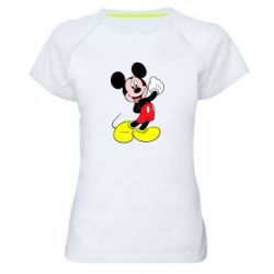 Женская спортивная футболка Микки Маус
