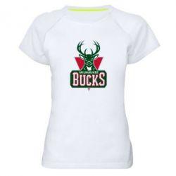 Женская спортивная футболка Milwaukee Bucks - FatLine