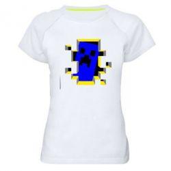 Женская спортивная футболка Minecraft 3D - FatLine