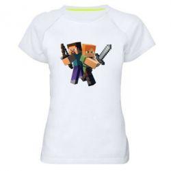 Женская спортивная футболка Minecraft Fan Art - FatLine