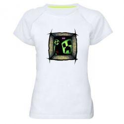 Женская спортивная футболка Minecraft Game - FatLine