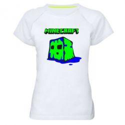 Женская спортивная футболка Minecraft Head - FatLine