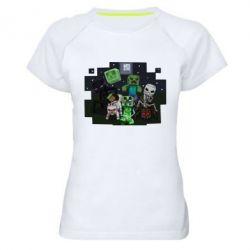 Женская спортивная футболка Minecraft Party - FatLine