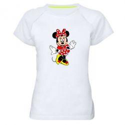 Женская спортивная футболка Минни Красавица - FatLine