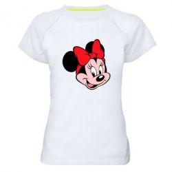 Женская спортивная футболка Минни Маус - FatLine