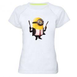 Женская спортивная футболка Миньон Хитман