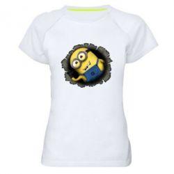 Женская спортивная футболка Миньон - FatLine