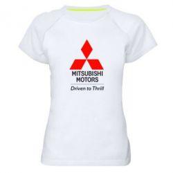 Женская спортивная футболка Mitsubishi Motors - FatLine
