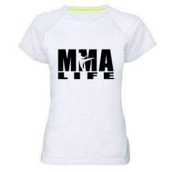 Женская спортивная футболка MMA Life - FatLine