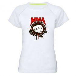 Женская спортивная футболка MMA Spot - FatLine