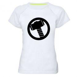 Женская спортивная футболка Молот Тора - FatLine
