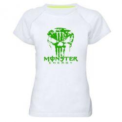 Женская спортивная футболка Monster Energy Череп - FatLine