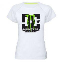 Женская спортивная футболка Monster Energy DC - FatLine