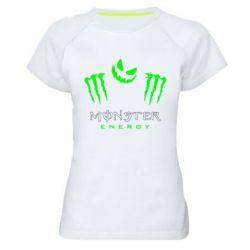 Женская спортивная футболка Monster Energy Halloween - FatLine