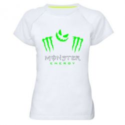 Женская спортивная футболка Monster Energy Halloween