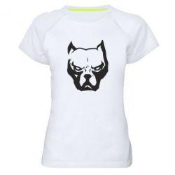 Жіноча спортивна футболка Морда пітбуля
