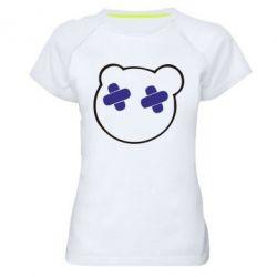 Женская спортивная футболка мордочка - FatLine
