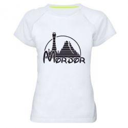 Женская спортивная футболка Mordor (Властелин Колец) - FatLine