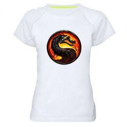 Женская спортивная футболка Mortal Combat - FatLine