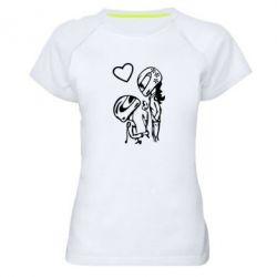 Жіноча спортивна футболка MOTO LOVE - FatLine
