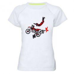 Женская спортивная футболка Moto-X - FatLine