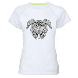 Женская спортивная футболка Mr. Pickles Art - FatLine