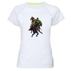 Женская спортивная футболка Мстители Фан Арт
