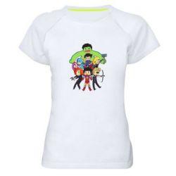 Женская спортивная футболка Мститети в сборе - FatLine