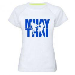 Женская спортивная футболка Муай Тай - FatLine