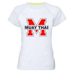 Женская спортивная футболка Muay Thai Big M - FatLine