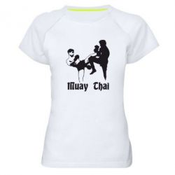 Женская спортивная футболка Muay Thai Fighters - FatLine