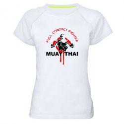 Женская спортивная футболка Muay Thai Full Contact - FatLine