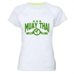 Женская спортивная футболка Muay Thai Hard Body - FatLine