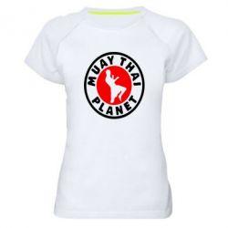 Женская спортивная футболка Muay Thai Planet - FatLine