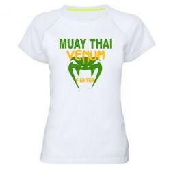 Женская спортивная футболка Muay Thai Venum Fighter - FatLine