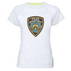 Женская спортивная футболка New York Police Department - FatLine